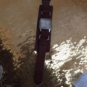 Fossil retro cuff watch EUC